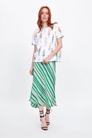 Zara T-shirt met meisjesprint