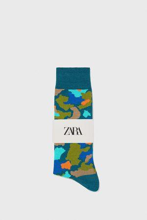 Zara Gemerceriseerd sokken met jacquard camouflagemotief