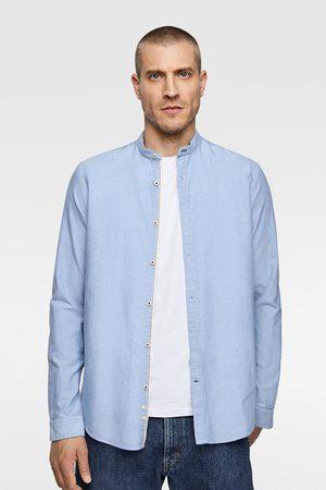 Zara Oxford overhemd met maokraag