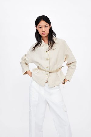 Zara Pleated jacket with belt