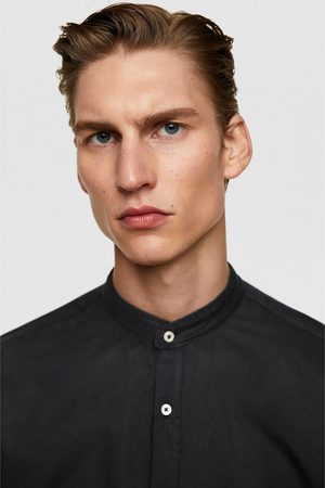 Zara Rustiek overhemd met maokraag