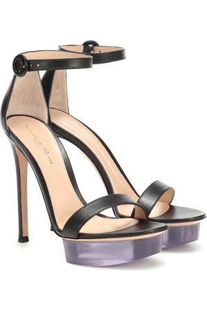 Gianvito Rossi Plateau leather sandals