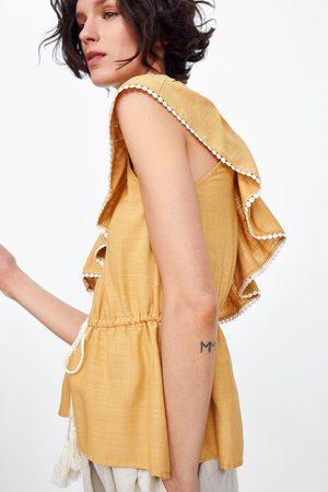 Zara Asymmetrische top met volant