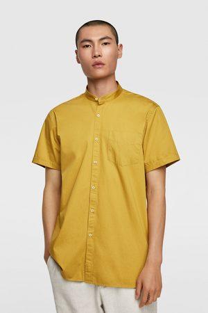 Zara Overhemd van keperstof met maokraag