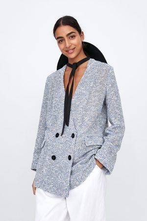 Zara Dames Blazers & Colberts - Double-breasted blazer met structuur