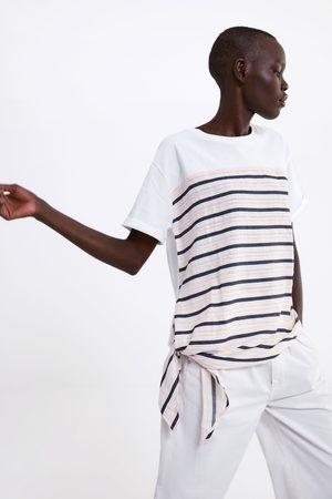 Zara Gecombineerd t-shirt met knoop