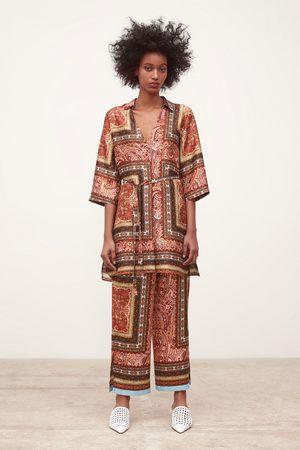 Zara Soepelvallende broek met print