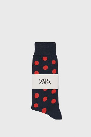 Zara Gemerceriseerde sokken met jacquard stippen