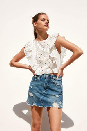 Zara Dames Shirts - T-shirt met volants