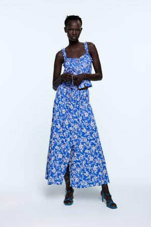 Zara Top met bandjes en print