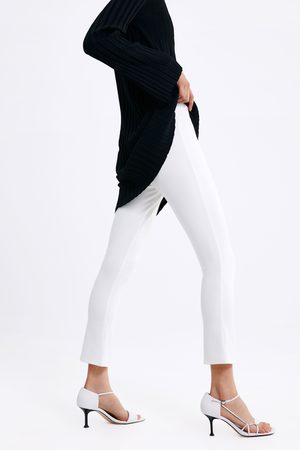 Zara Dames Pantalons - Broek met licht uitlopende pijpen