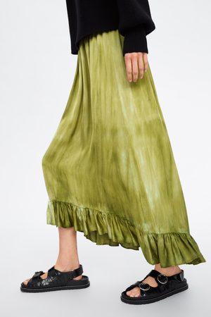 Zara Tie-dye rok met volant