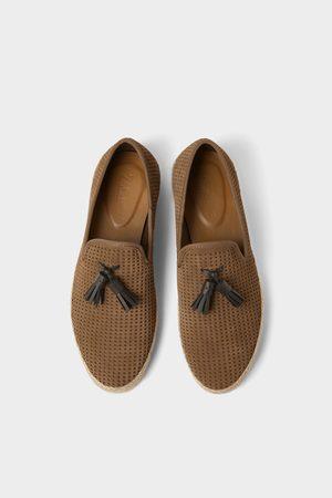 Zara Leren schoenen met jute zool