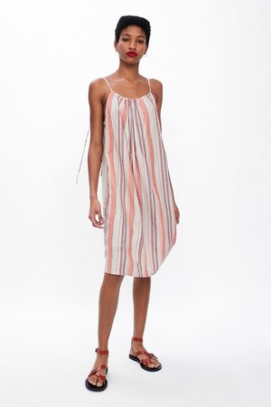 Zara Rustieke jurk met strepen