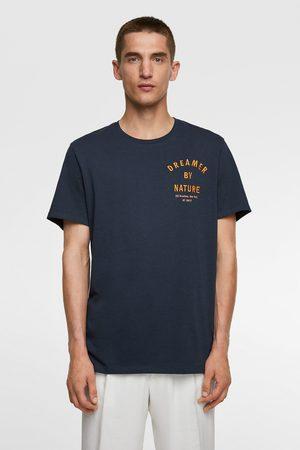 Zara T-shirt met geborduurde tekst