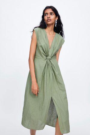 Zara Midi-jurk met knoop