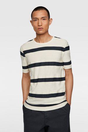 Zara Jacquard t-shirt met strepen