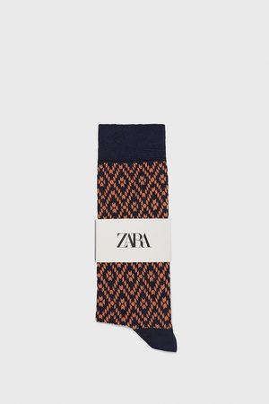Zara Gemerceriseerde sokken met geometrische print