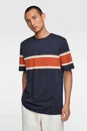 Zara Piqué t-shirt met strook