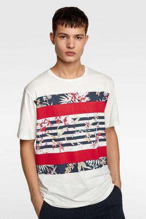Zara Heren Shirts - T-shirt met gecombineerde strepen