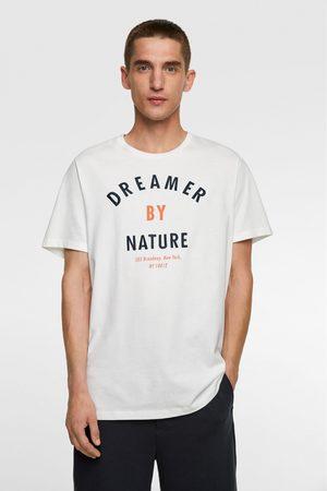 Zara Heren Shirts - T-shirt met geborduurde tekst
