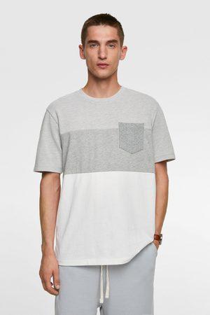 Zara T-shirt met gecombineerde kleurblokken