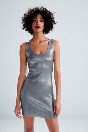Zara Glanzende mini-jurk