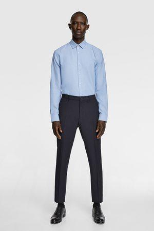 Zara Tweekleurig overhemd met structuur