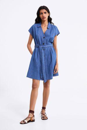 Zara Denim jurk met ceintuur