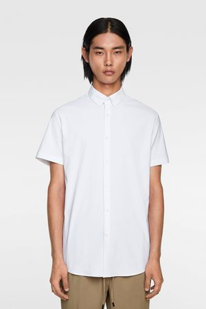 Zara Overhemd traveler met korte mouwen