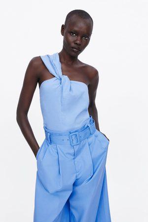Zara Asymmetrische top met knoop