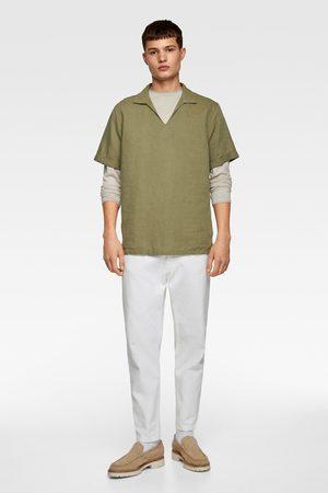 Zara Rustiek overhemd met polosluiting
