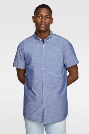 Zara Overhemd met structuur en korte mouwen