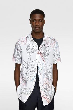 Zara Overhemd met getekende print