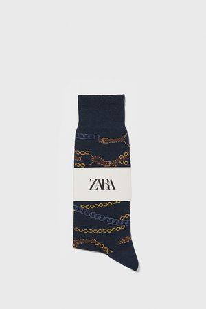 Zara Gemerceriseerde sokken met kettingen