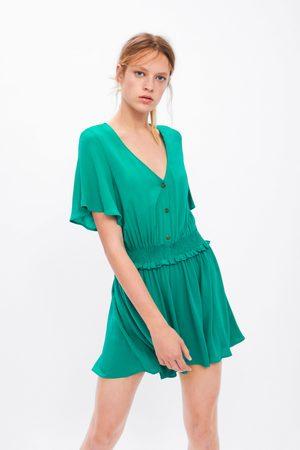Zara Korte jumpsuit met elastische mouwen