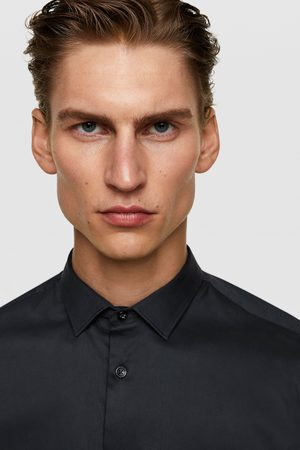 Zara Heren Overhemden - Popeline superslim blouse