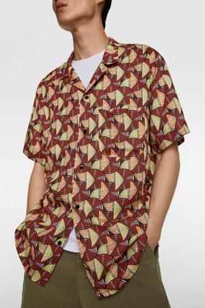 Zara Overhemd met geometrische print