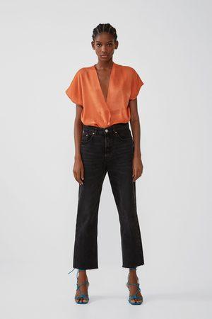 Zara Dames Body's - Satijnachtige combi-top