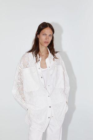 Zara Blouse met opengewerkte borduursels