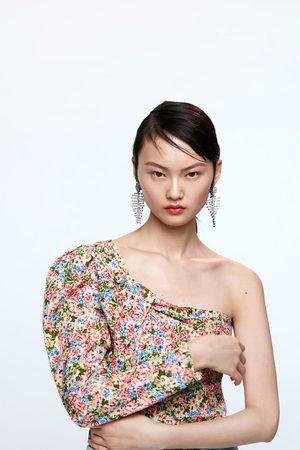 Zara Asymmetrische top met print
