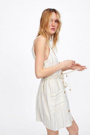 Zara Gestreepte jurk met ceintuur