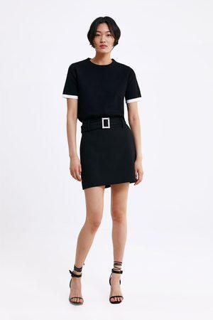 Zara Tricot trui met contrasterende biezen