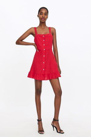 Zara Dames Jurken - Mini-jurk met volants