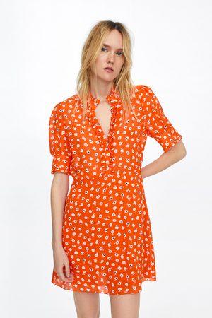 Zara Dames Geprinte jurken - Jurk met bloemenprint en sierknoop