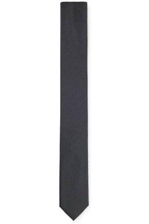 HUGO BOSS Heren Stropdassen - Stropdas van zuivere zijde met keperpatroon