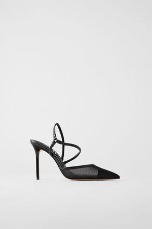 Zara Dames Pumps - Pumps met hak en netstof