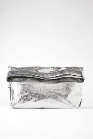 Zara Dames Clutches - Extra grote clutch in metallic look