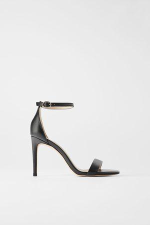 Zara Dames Sandalen - Leren sandalen met hak