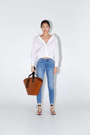 Zara Dames Skinny - Skinny jeans z1975 met zijstroken